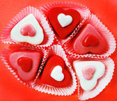 Heart shaped candies — Stock Photo