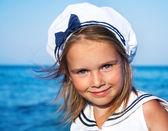 Kız denizci giyim — Stok fotoğraf