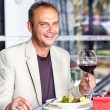Man having dinner — Stock Photo