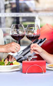 Glasses with red wine — Stock Photo
