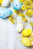Easter colorful eggs decoration — Stock Photo