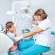 Kid unwilling to show her teeth — Stock Photo