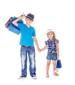 Crianças na moda — Fotografia Stock