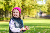 Girl with a pink hat on — Stock Photo