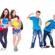 Stock Photo: Kids ready for school