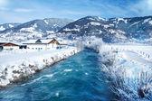 Rustic winter landscape — Stock Photo