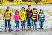 Cheerful children group — Stock Photo