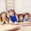 Children  in a school gym — Stock Photo