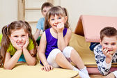 Primary school stidents — Stock Photo
