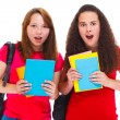 Amazed teenage girls — Stock Photo