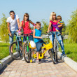 Enjoying bicycle ride — Stock Photo