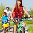 Stock Photo: Cycling activity
