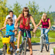 Family riding bicycles — Stock Photo #27455991