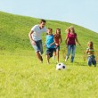 Stock Photo: Active happy family