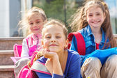 Smiling primary school students — Stock Photo