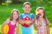 Kids in a summer park — Stock Photo
