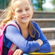 Smiling basic school student — Stock Photo