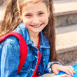 Girl with a backpack — Stock Photo
