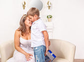 Boy embracing his mother — Stock Photo
