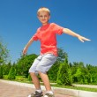 Stock Photo: Skateboarding learner