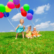 Stock Photo: Balloon toddlers