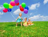 Balloon toddlers — Stock Photo