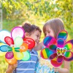 Preschool boy and girl embracing — Stock Photo #30722557