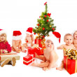 Group of Christmas kids — Stock Photo