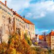 Cesky krumlov slott — Stockfoto