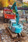 360-degree excavator — Foto de Stock
