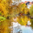 Vltava river in fall — Stockfoto
