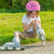 Preschool skateroll beginner — Stock Photo