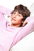 Smiling handsome young man — Stockfoto