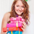 Teenage girl in a party dress — Stock Photo