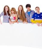 Teenage girls and boys — Stock Photo