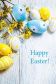 Velikonoční zdobení vajec — Stock fotografie