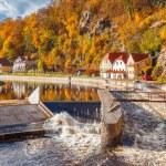 Vltava river in Cesky Krumlov — Stock Photo #47540389
