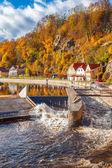 Río moldava en cesky krumlov — Foto de Stock