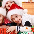 Kids in Christmas hats — Stock Photo #8686524