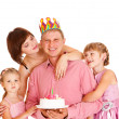 Family embracing father — Stock Photo #8693216