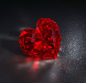 Ruby heart — Stock Photo