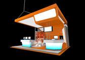 Carrinho de exposição laranja — Foto Stock