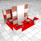 Modern exhibition stand — Stock Photo