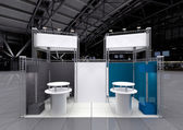 Blank exhibition stand — Stock Photo