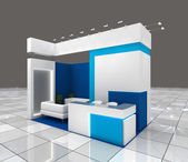 Exhibition stand design — Stock Photo