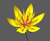 Gelber lotos — Stockfoto