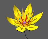 Sarı lotos — Stok fotoğraf