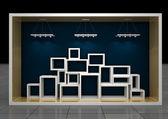 öppna showcase — Stockfoto
