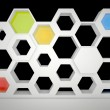 Stock Photo: Hexagonal showcase