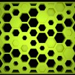 Stock Photo: Hexagonal shelves